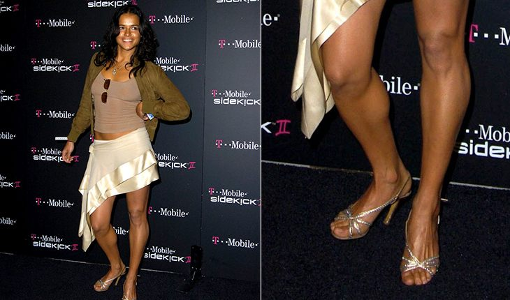 Curved legs of Michelle Rodriguez