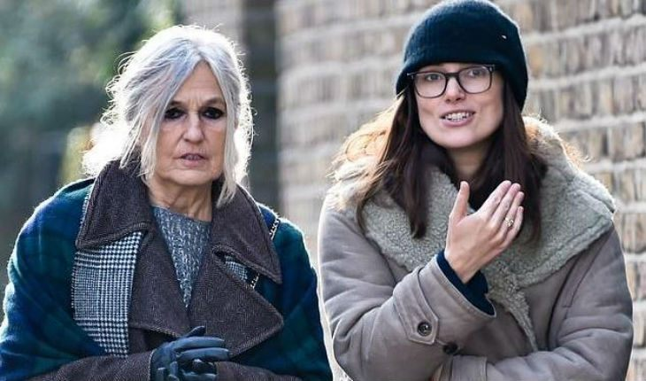 Keira Knightley and her mom
