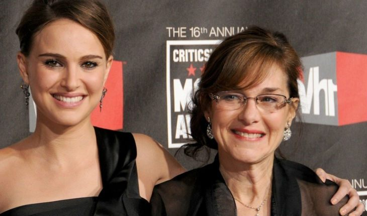 Natalie Portman with her mom