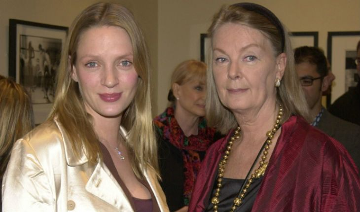 Uma Thurman and her mom