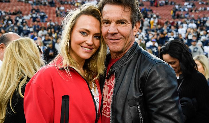 Dennis Quaid and Santa Auzina (32 years)