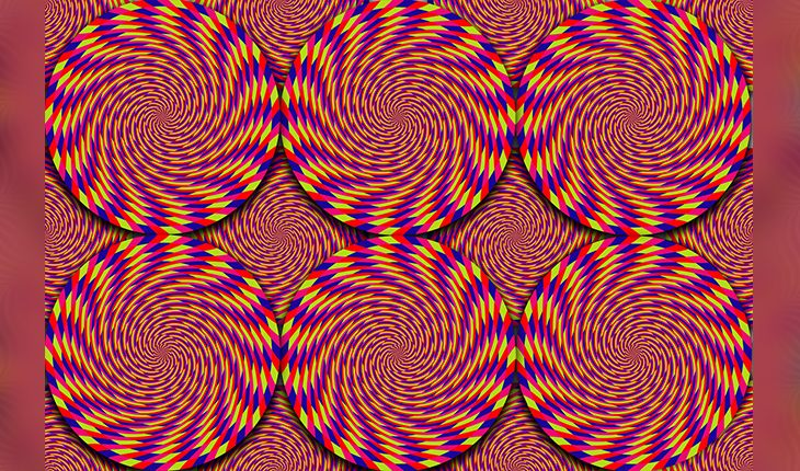 Multicolored moving circles