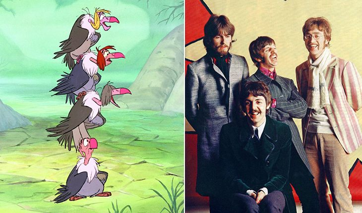 The Beatles – vultures from The Jungle Book