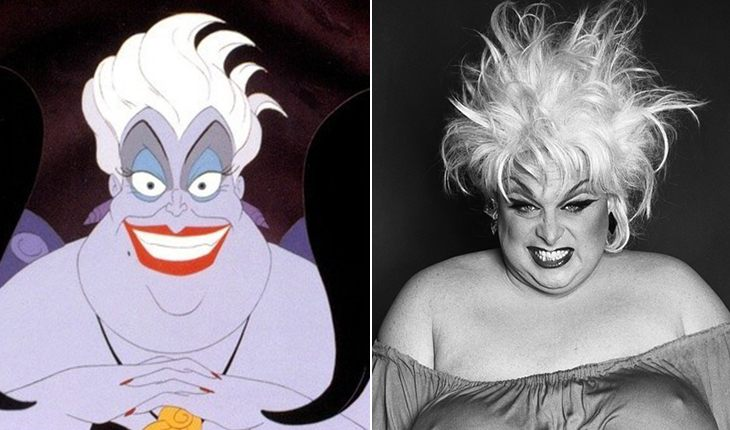 Drag-queen Divine – Ursula from The Little Mermaid