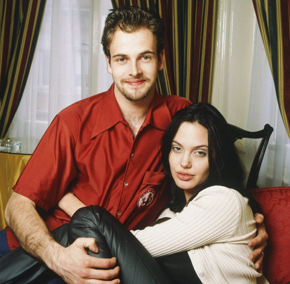Angelina Jolie with her first husband Jonny Lee Miller