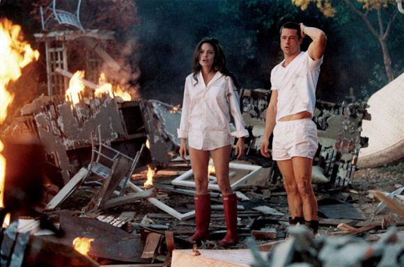 Angelina Jolie and Brad Pitt in the «Mr. and Mrs. Smith»