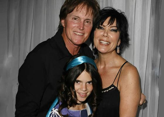 Kendall Jenner with Parents