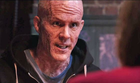 Reynolds spent hours in the makeup chair during Deadpool shooting