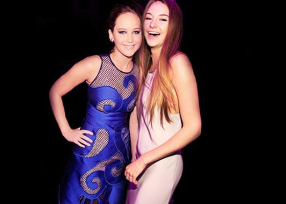 In the real life, Shailene Woodley and Jennifer Lawrence are good friends