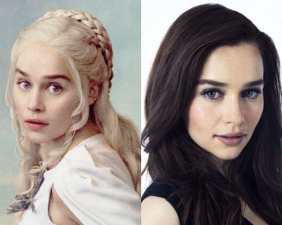 Emilia Clarke in movie and in real life