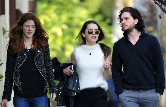 With Kit Harington and Rose Leslie