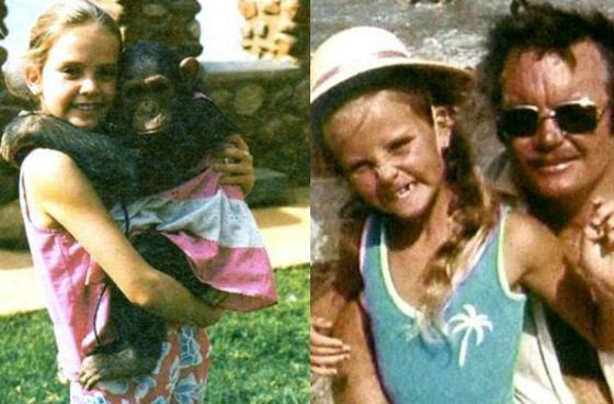 Charlize Theron childhood photos depicting her carefree tears at the family farm