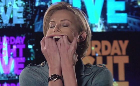 Charlize Theron is not afraid to look silly