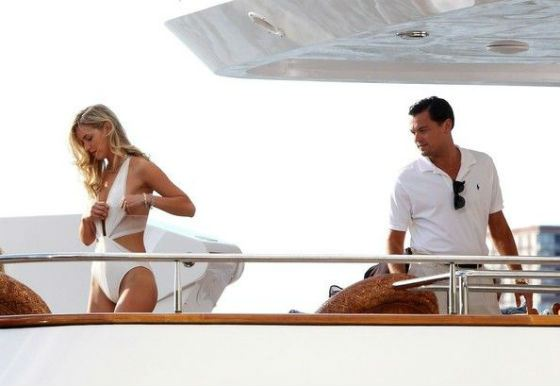 Dicapri and Robbie chilling on yacht together
