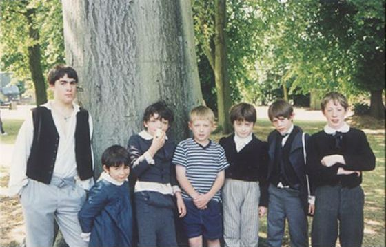 Daniel Radcliffe as a child (third from right)