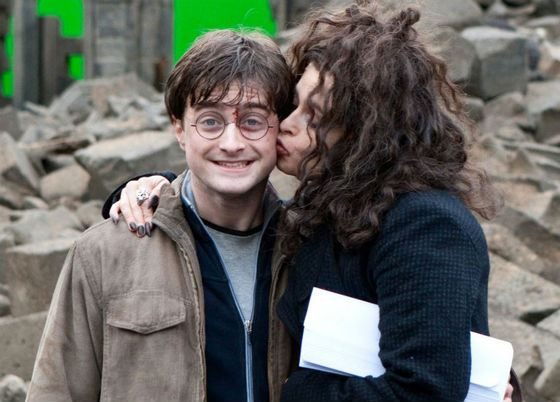 Daniel Radcliffe and Helena Bonham Carter