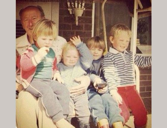 Little Liam Hemsworth with Brothers (Liam is in Red Jacket)