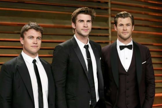 Liam (in the middle) is the Youngest of Hemsworth's Brothers