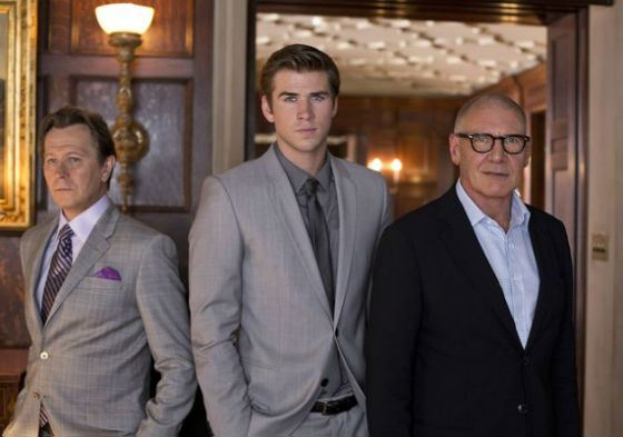 Liam Hemsworth with Gary Oldman and Harrison Ford