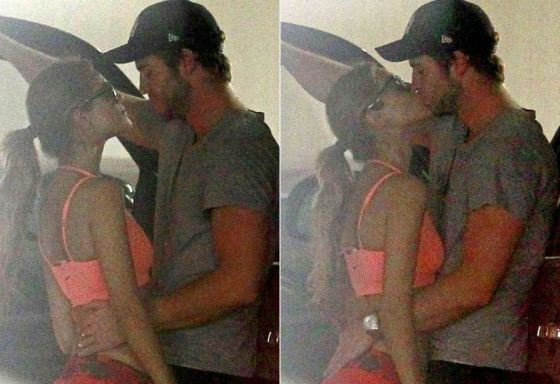 Liam Hemsworth and Eiza González's Kiss