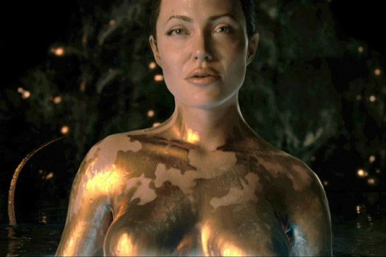 »Beowulf»: Angelina played Grendel's mother
