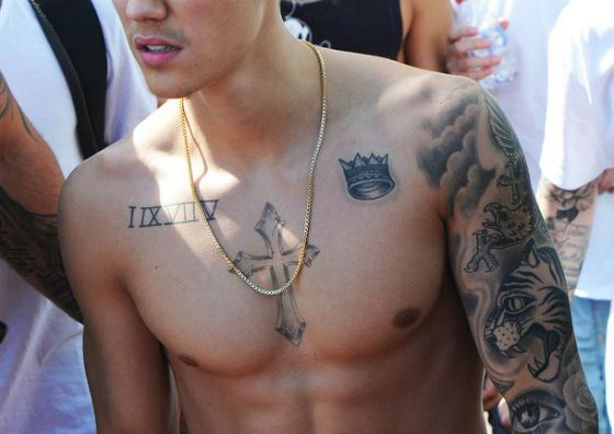 Some of Justin Bieber tattoos
