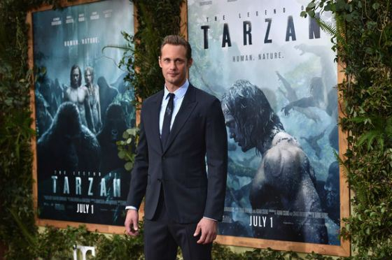 Alexander Skarsgård at the premiere of «The Legend of Tarzan»