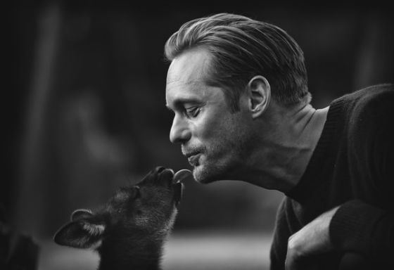 The shooting of «The Legend of Tarzan»: Alexander Skarsgård kisses a baby kangaroo