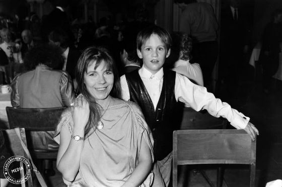 Little Alexander Skarsgård with his mother