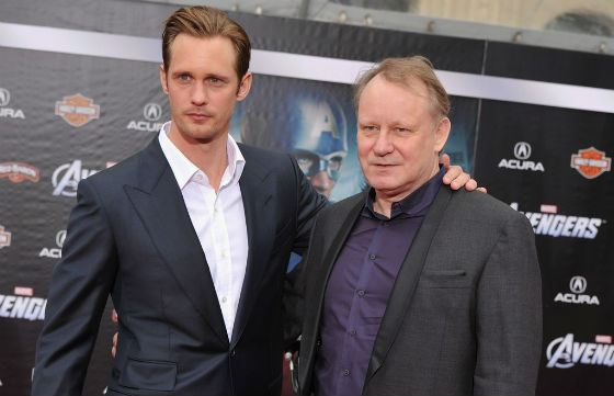 Alexander's father, Stellan Skarsgård, is the great Swedish actor