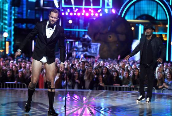 In 2016, Alexander Skarsgård appeared on the stage without his pants