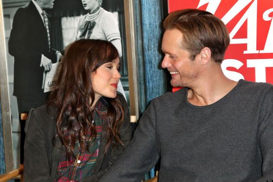 On the photo: Alexander Skarsgård and Ellen Page