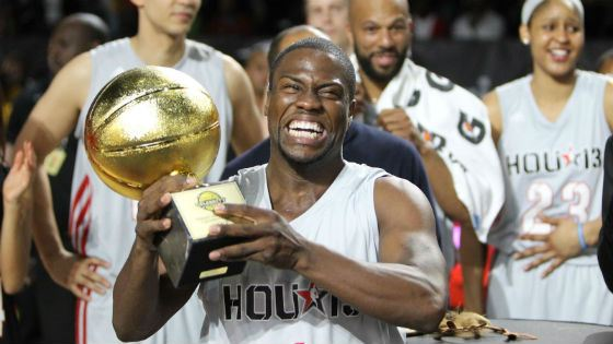 Kevin Hart as the most valuable player of NBA All-Star Celebrity Game