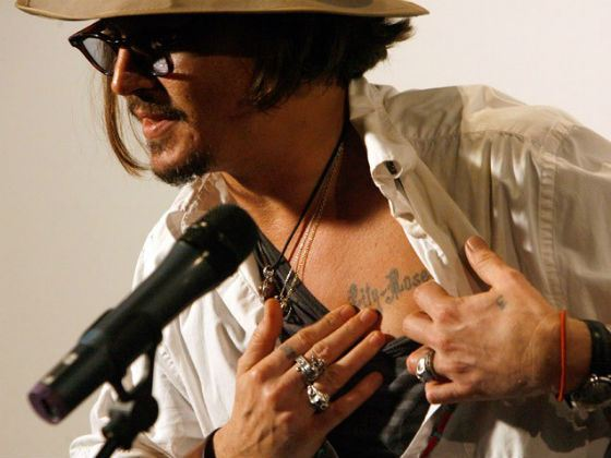 Johnny Depp's Tattoo with the Name of his daughter