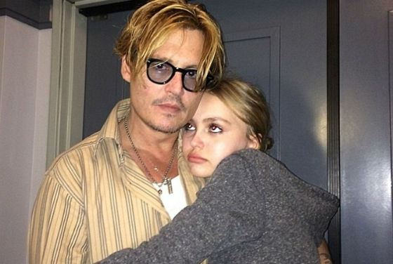 Lily-Rose Depp with her Dad