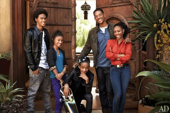 Will Smith with wife and kids