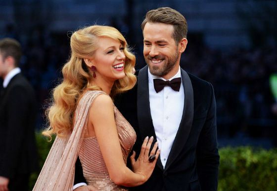 Wedding photo of Blake Lively and Ryan Reynolds