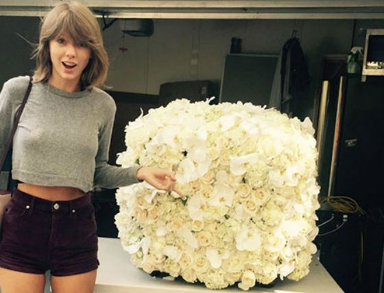 The bouquet that Taylor Swift got from Kanye West