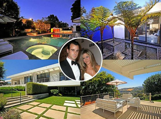 The House of Jennifer Aniston and Justin Theroux in Beverly Hills