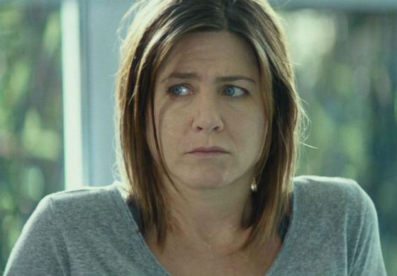 Aniston without makeup (from the movie