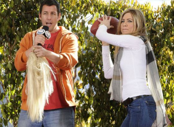 Jennifer Aniston and Adam Sandler played together a lot
