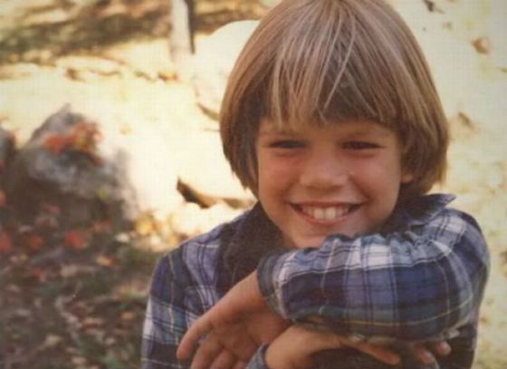 Matt Damon as a child