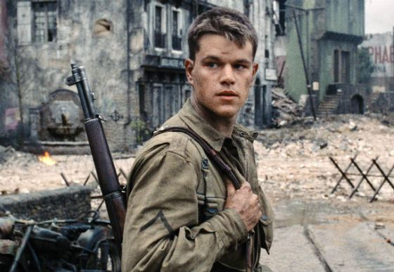 A scene from «Saving Private Ryan»