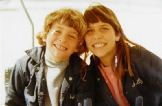 Little Bradley Cooper and his sister Holly