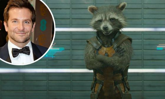 Bradley Cooper gave his voice the raccoon in «Guardians of the Galaxy»