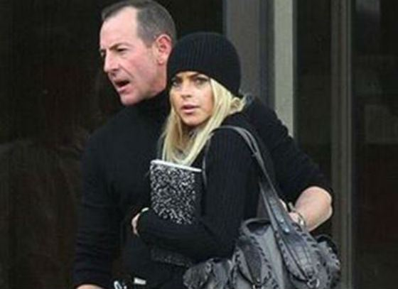 In the photo: Lindsay Lohan and her father