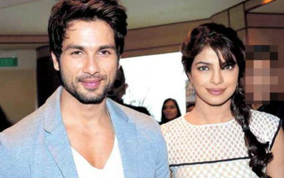 Priyanka was ascribed an affair with Shahid Kapoor