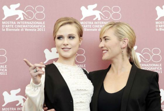 Evan Rachel Wood and Kate Winslet played together in a miniseries Mildred Pierce