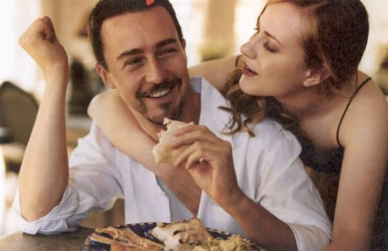 Edward Norton and Rachel Wood were dating in real life