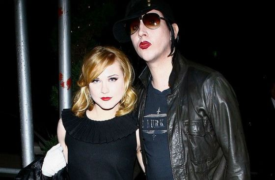 Evan Rachel Wood and Marylin Manson were betrothed